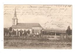 CPA 90 CHEVREMONT L'Eglise & Le Pensionnat 1909 - France