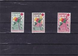 CAMEROUN : Croix Rouge : Y&T : 314** à 316** - Cameroun (1960-...)