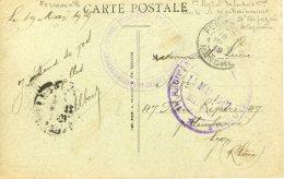 Cachet Du 1er D´Infanterie Coloniale De Cherbourg Et Du Centre D'entrainement De Fermanville Sur Carte Du Chateau De Tou - Cachets Militaires A Partir De 1900 (hors Guerres)