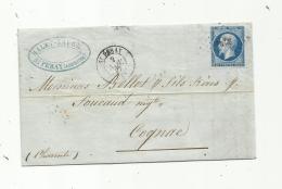 FRANCE  :  Empire No 14  Sur LaC Du 02 11 1857   PC 3236  St Peray  (06) - Marcofilia (sobres)