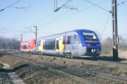 Remilly (57) 18/02/2004 - Autorails X73911 (SNCF) & X73914 (DB) - France