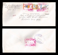 E)1996 MEXICO, PRESERVE THE SCARLET MACAW, JAAGUAR, WHITE-WINGED DOVE, REGISTERED, STRIP OF 3, CIRCULATED COVER FROM MAZ - Mexico