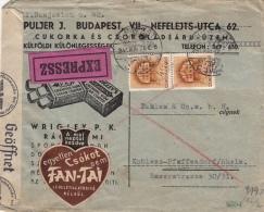Lettre Expressz Budapest Superbe Illustration Censure Guerre 1941