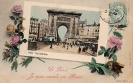 75 De  PARIS  Je Vous Envoie Ces Fleurs  (Porte St-Denis) - France