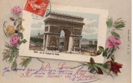 75 De  PARIS  Je Vous Envoie Ces Fleurs  (Arc De Triomphe) - France