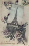 75 De  PARIS  Je Vous Envoie Ces Fleurs  (Tour Eiffel) - France