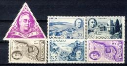 Monaco 1946 Serie N. 295-300 Omaggio A Roosvelt MNH Catalogo € 12 - Monaco
