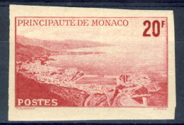 Monaco 1948 - 49  N. 312 F. 20 Rosa-carminio MNH NON DENTELLATO Catalogo € 31,80 - Monaco