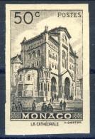 Monaco 1948 - 49 N. 307 C. 50 Bruno-nero MNH NON DENTELLATO Catalogo € 19,50 - Monaco