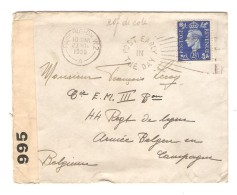 Great Britain Paddington 23/11/1939 Censor 995 To Belgian Soldier (en Campagne ) Belgium PR3003 - Briefe U. Dokumente