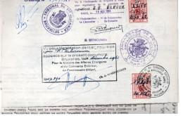 Timbre Fiscal Sur Document . Affaires Etrangères - Documenten