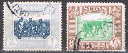 Dos Sellos De SUDAN, Cotton And Nuba  Westlersm Yvert Num 103-104 º - Sudan (1954-...)