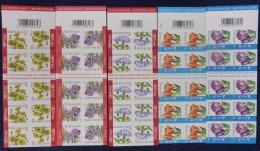 Buzin-5 Feuillets De 10 Timbres Flores  Années 85-90 - 1985-.. Birds (Buzin)