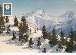LES DEUX ALPES (38-Isère), Vue Sur La Muzelle, Skieurs, Xes Jeux Olympiques D´Hiver Grenoble,1968, Ed. André 1967 - Autres Communes
