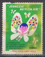 Viñeta, Vignette FRANCIA , Jeunesse Au Plein Air, Label, Cinderella º