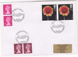 1987 GB Stamps COVER EVENT Pmk  RAF BINBROOK OPEN DAY  Aviation British Forces Airforce Flight - Airplanes