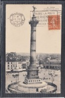 """Flier De PARIS XVII   R.JOUFFROY  1928   Sur  CPA  """" Utilisez La Poste   ..."""" Pour LILLE     La Colonne De Juillet - Storia Postale"""