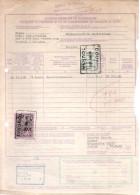 Timbre Fiscal Sur Document. Entrepôt Public Tournai. 2 Scans - Documenten