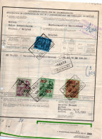 Timbre Fiscal Sur Document. Droit D'entrepôt Tournai. - Documenten