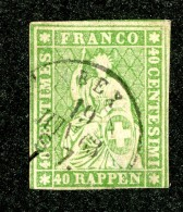 10088  Switzerland 1858-62 Zumstein #26G  (o)  Michel #17 IIBym - Usados