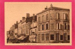 33 GIRONDE BLAYE, Le Cours Du Port, Animée, Commerces,  (A. Baron) - Blaye