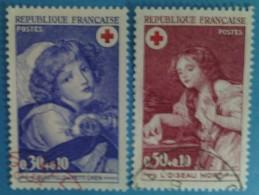 France 1971 : Au Profit De La Croix-Rouge N° 1700 à 1701 Oblitéré - France