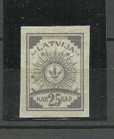 LETTLAND Latvia 1919 Michel 11 C MNH - Lettonia