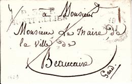 MARQUE POSTALE LAC DE P.33.P MONTPELLIER A BEAUCAIRE  17 MAI 1829 - Marcophilie (Lettres)