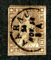10100  Switzerland 1856 Zumstein #22D  (o)  Michel #17 IIBys - Usados