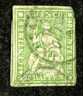 10107  Switzerland 1858 Zumstein #26G (o)  Michel #17 IIBym - Usados