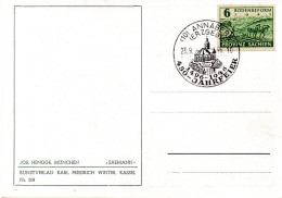 "(DDR-B1) All. Besetz.(Sowj. Zone) Künstler-Postkarte EF Mi  ""Bodenreform"" Blanko-SSt. 23.9.46 ""ANABERG 450 JAHRFEIER"" - Zone Soviétique"