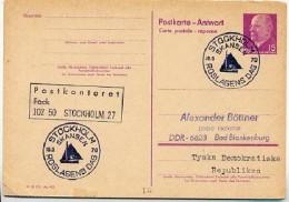 ROSLAGENS DAY STOCKHOLM Sweden 1970  On East German Postal Card P 74 A - Ferien & Tourismus