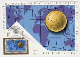 1954, Maximum Karte , Fußball-WM 1954 , #2499 - 1954 – Schweiz