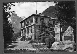 COURMAYEUR MUNICIPIO E MONUMENTO A CARDUCCI FG NV SEE 2 SCANS - Italy