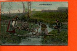 Folklore - Paysans - Un Passage Difficile - Champs - Folklore
