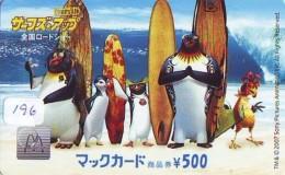 CARTE McDonald's JAPON (196)  MacDonald's * McDonald´s   JAPAN *  U CARD * PINGUIN - Advertising