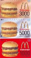 SERIE  3 CARTES McDonald's JAPON (223)  MacDonald's * McDonald´s   JAPAN *  U CARD * - Advertising
