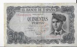 Billete 500 Pesetas 1971 - Billet De Banque - Espagne - - [ 3] 1936-1975 : Regency Of Franco