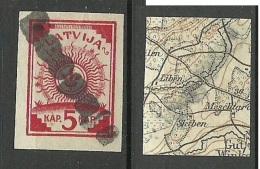 LETTLAND Latvia 1918 Provisorisches Stempel LEEPAJA Auf Michel 1 Provisional Cancel - Latvia