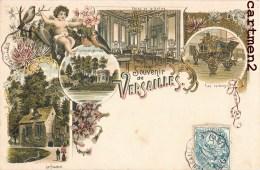 BELLE CPA : SOUVENIR DE VERSAILLES CHATEAU MULTIVUES STYLE GRUSS 1900 - Versailles