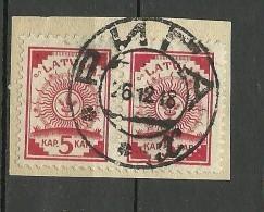 LETTLAND Latvia 1918 Provisorisches Stempel RIGA Auf Michel 2 Provisional Cancel In Russian - Latvia