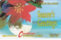 Cayman Islands, CAY-4A, Seasons Greetings, Christmas, 2 Scans..    4CCIA - Cayman Islands