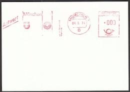 Germany Munich 4.3.1974. Olympic Games Munich 1972 / Response / Machine Stamp - Estate 1972: Monaco