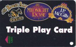 Midnight Rose/JP McGills/Brass Ass Casinos CO - BLANK Triple Play Card - Cpi 2024976 Over Mag Stripe - Casino Cards