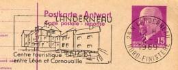 LANDERNEAU 1969 Sur Carte Postale Avec Réponse P74 Imprimé Privé #1 - Poststempel (Briefe)