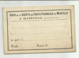 Envoi De La Société Des Hauts-Fourneaux De Maxéville  (Meurthe-et-Moselle - Frankrijk