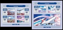 TOGO 2016 - Concorde, M/S + S/S. Official Issue. - Vliegtuigen