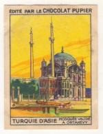 TURQUIE,TURKEI,TURKEY, ORTAKOY VALIDE MOSQUIE CHOCOLAT PUPIER CARD NEW - Oude Documenten