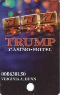 Trump Casino Buffington Harbor IN - Slot Card - Red-Brown Mag Stripe - Casino Cards