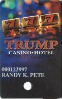 Trump Casino Buffington Harbor IN - Slot Card - Innovative Over Red-brown Mag Stripe - Casino Cards